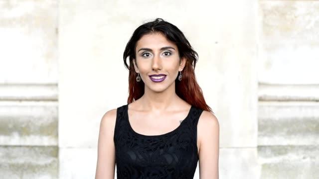 Transgender female portrait