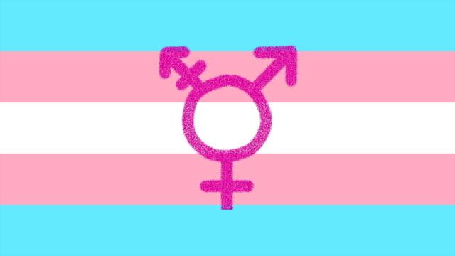 Transgender flag with symbol