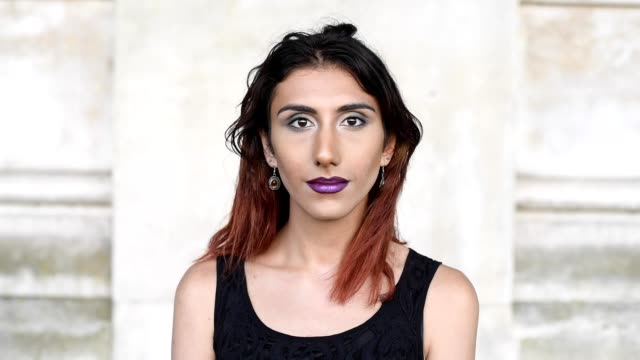 Transgender head and shoulders portrait