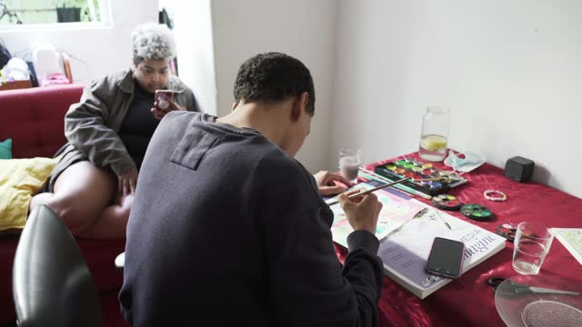 transgender immigrants find a safe place in portugal; lisbon, portugal; various shots of 'casa t' apartment, interviews with apartment residents.... - news not politics video stock e b–roll