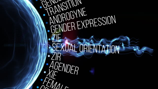 transgender terms - ermafrodita video stock e b–roll
