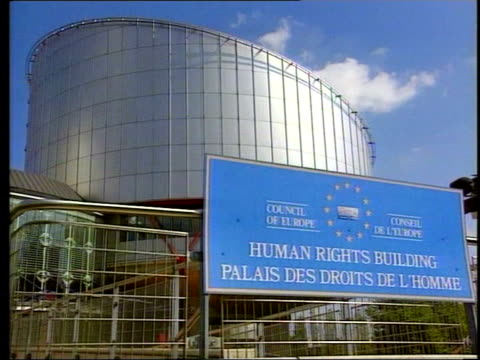 transgender woman wins right to be recognised as woman; lib france: strasbourg: ext european court of human rights people up steps towards building... - straßburg stock-videos und b-roll-filmmaterial