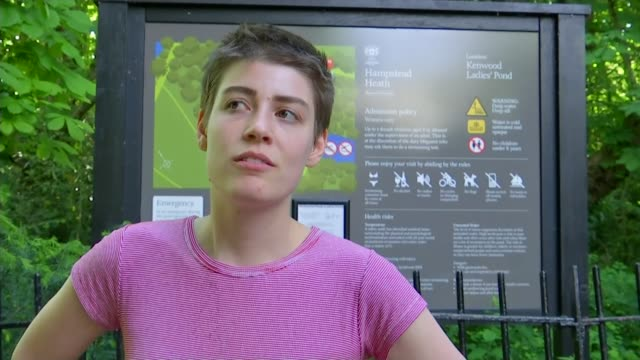 transgender women's right to use hampstead heath ponds acknowledged england london hampstead heath ext vox pops sot - sport stock videos & royalty-free footage