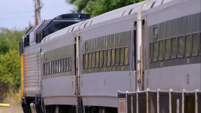 NJ Transit Commuter Train Travels the Tracks