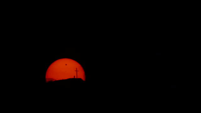 transit of venus - telephoto lens stock videos and b-roll footage