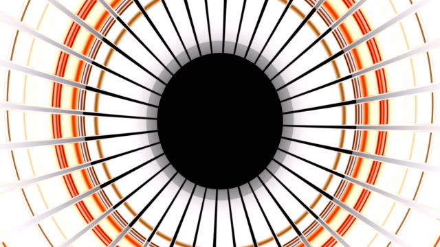 transition from black to white through concentric circles. - hypnosis stock videos & royalty-free footage
