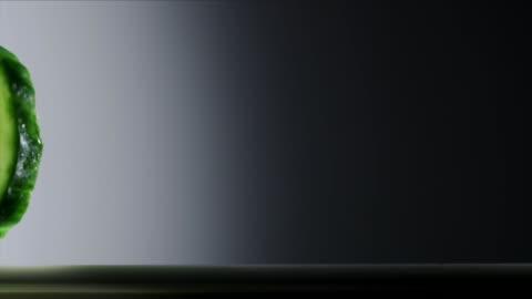 translucent cucumber slice - translucent stock videos & royalty-free footage