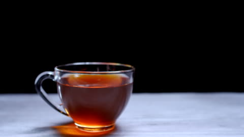 translucent glass tea cup - translucent stock videos & royalty-free footage