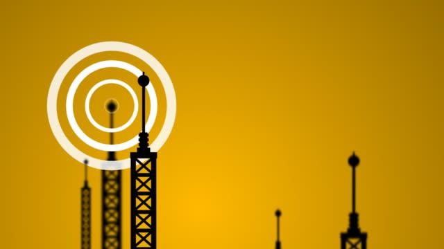 vídeos de stock, filmes e b-roll de transmissor de sinais - onda radiofônica