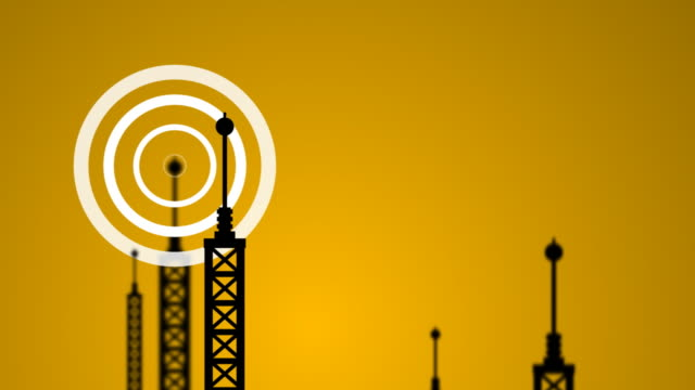 transmitter signals - radio wave stock videos & royalty-free footage