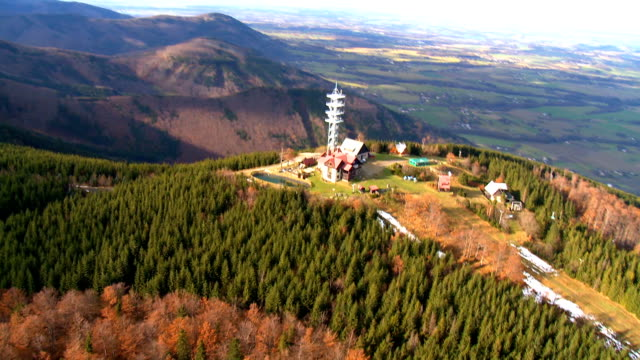 TV Transmitter Tower on the top of mountain