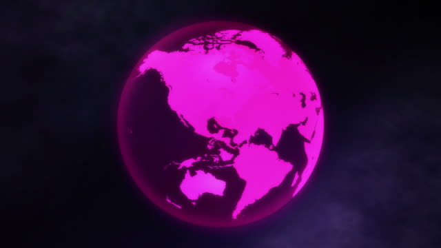 transparent pink earth - 循環する動き stock videos & royalty-free footage