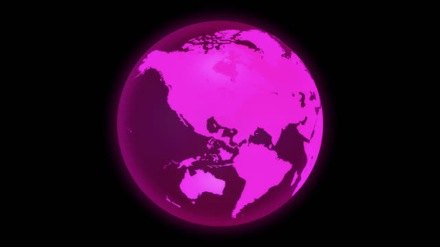 transparent pink earth with alpha channnel - 循環する動き stock videos & royalty-free footage