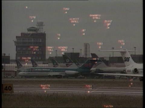 Air Traffic Control Crisis £30 Million Tax Loan Bailout LIB Planes on tarmac/air traffic monitor screen supered