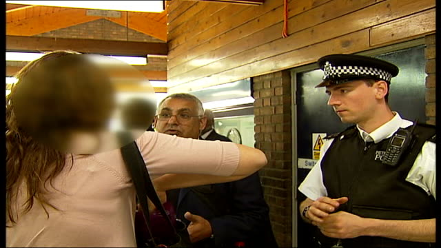 Transport for London begins campaign against fare dodgers Police officer speaking to tube passenger who travelled without buying a ticket SOT Police...
