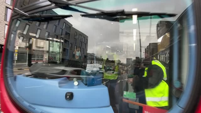 transport for london say 1700 people fined for not wearing face masks on public transport; england: london: int reporter to camera sot location... - cutaway video transition stock videos & royalty-free footage