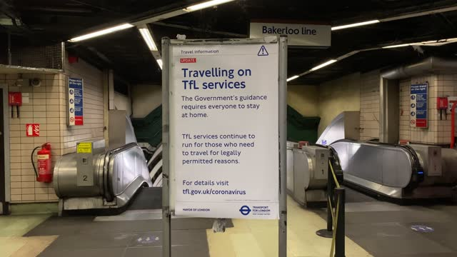transport for london travel advisory at paddington tube station asking people to only use the london underground only if necessary on january 11,... - man made object stock videos & royalty-free footage