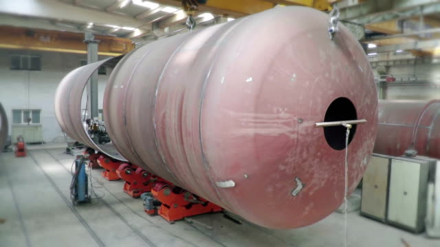 transport of big tube, autoclave - aerospace stock videos & royalty-free footage