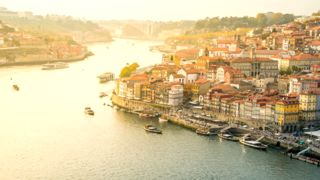 t/l transportation at douro river, porto, portugal - portugal stock videos & royalty-free footage