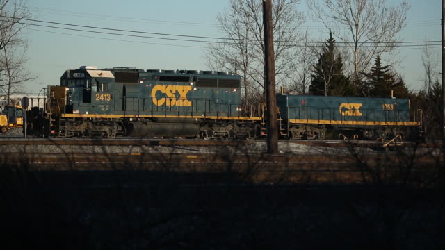 csx transportation inc locomotives sit parked in louisville kentucky us on wednesday january 9 2020 csx corporation is scheduled to release earnings... - boom barrier stock videos & royalty-free footage