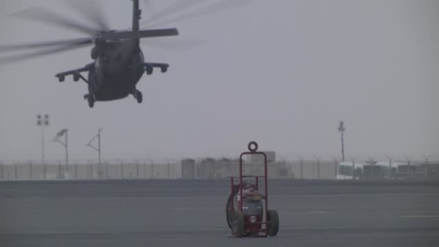 transportation of inmates training in kuwait - black hawk helicopter stock videos and b-roll footage