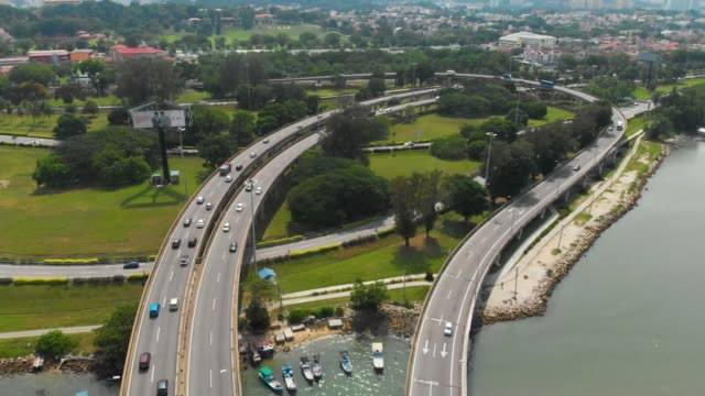transportation road traffic in penang - penang stock videos and b-roll footage