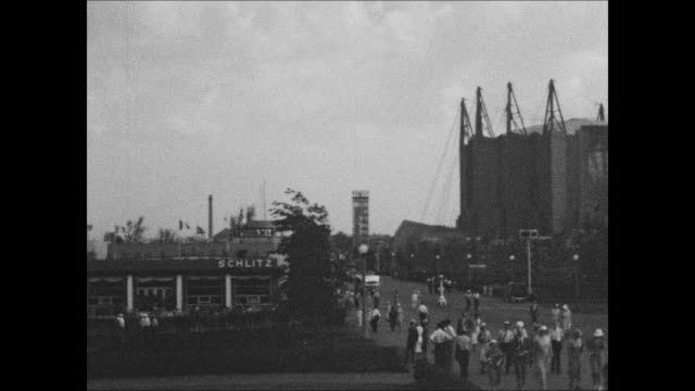 transportation row at 1933 chicago world's fair - 1933 stock-videos und b-roll-filmmaterial