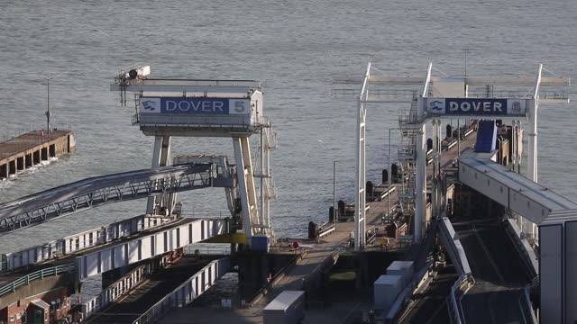 transportation scenes from port of dover, dover, kent, england, u.k., on friday, december 4, 2020. - western script stock videos & royalty-free footage