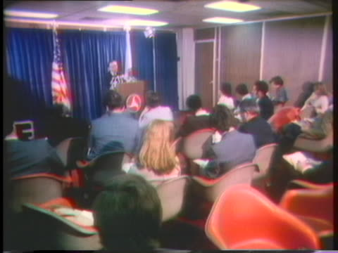 us transportation secretary william coleman says that he advised concorde company officials that they could only use noisemonitored runways for their... - 1976年点の映像素材/bロール