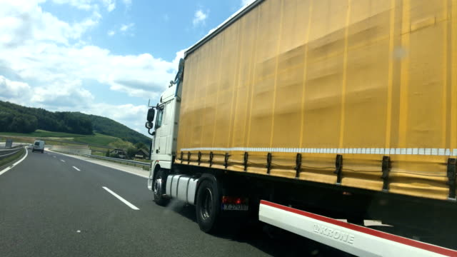 transportation truck on highway - moving past stock videos & royalty-free footage
