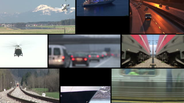 hd loop montage: transportation - transportation stock videos & royalty-free footage