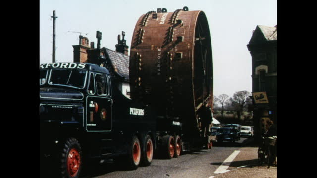 montage transporting sections of nuclear power plant in britain / united kingdom - nuclear power station stock videos & royalty-free footage