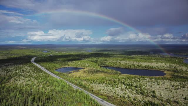 trans-taiga road - 虹点の映像素材/bロール