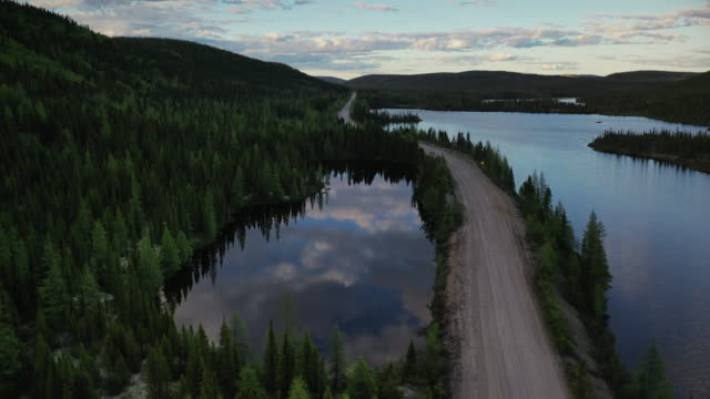 trans-taiga road - boreal forest stock videos & royalty-free footage