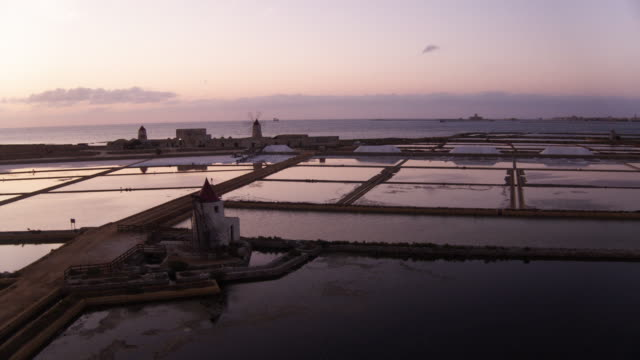 trapani salt flat in italy - salt flat stock videos & royalty-free footage