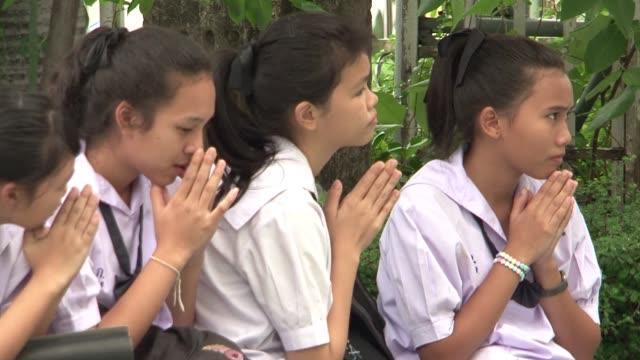 vídeos y material grabado en eventos de stock de tras generaciones de escolares tailandeses sometidos a un draconiano codigo que imponia el corte militar para los chicos y el estilo tazon para las... - capilar vaso sanguíneo