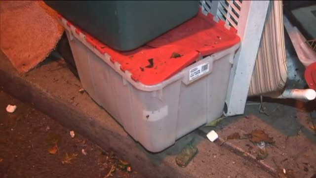 trash piles up on curbs after hurricane sandy on november 16 2012 in new york new york - bin bag stock videos & royalty-free footage