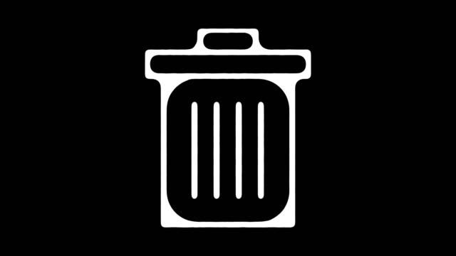 trash recycle pickup blackboard line animation with alpha - blackboard stock videos and b-roll footage
