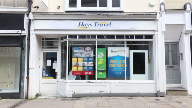 travel agents stores including tui, hays, sta travel and trailfinders, in kent, united kingdom, on monday, may 4, 2020. - travel stock videos & royalty-free footage