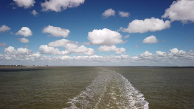 travel by ferry through the wadden sea from havneby to sylt - tina terras michael walter stock videos & royalty-free footage