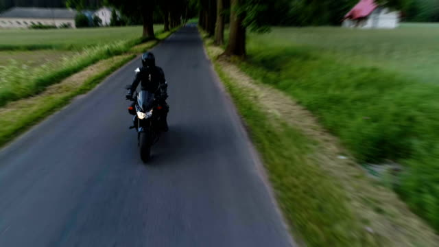 Travel by motorcycle. Rural landscape