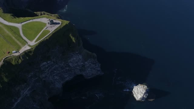 Travel Cinemagraphs, aerial view of Cliffs of moher