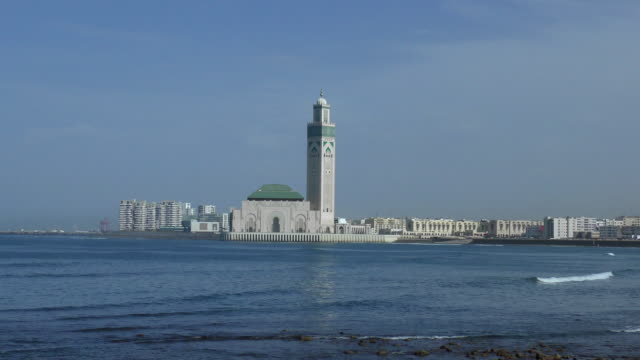 travel cinemagraphs - casablanca,morocco - mosque stock videos & royalty-free footage