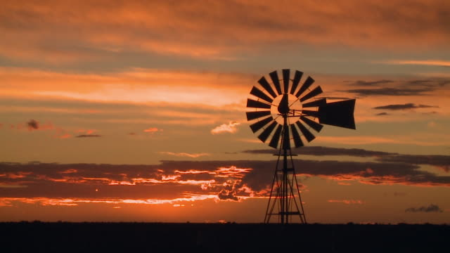Travel Cinemagraphs, patagonian sunset windmill medium