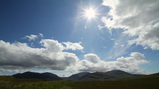 Travel Cinemagraphs, scottish highland clouds and sun