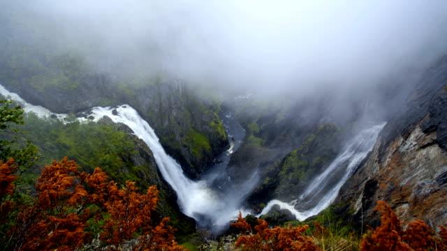 vídeos y material grabado en eventos de stock de travel cinemagraphs - vøringfossen waterfall, norway - paisaje espectacular