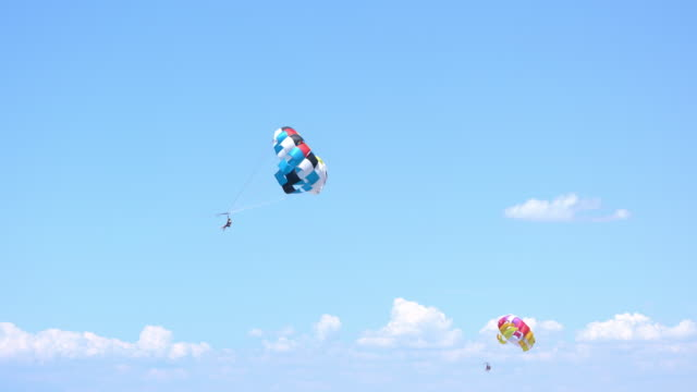 travel parasailing cinemagraphs - water sport stock videos & royalty-free footage
