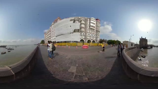 travel the streets of mumbai in a 360 experience - tourism stock videos & royalty-free footage