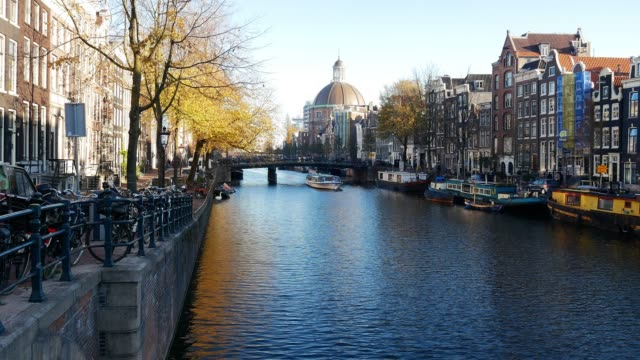 Travel to Amsterdam - famous streets and canals in Dutch city