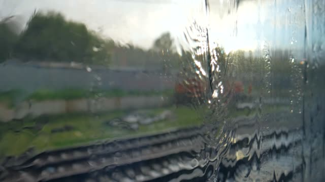 Travel with train, sight seeing from the window.